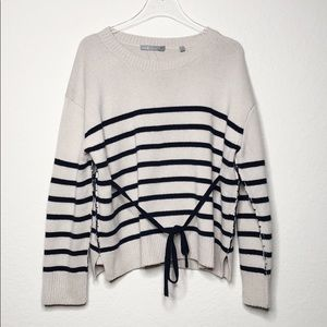Vince Striped Boxy Cashmere Sweater
